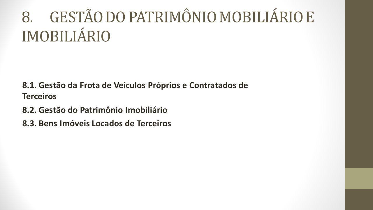 8.GESTÃO DO PATRIMÔNIO MOBILIÁRIO E IMOBILIÁRIO 8.1.