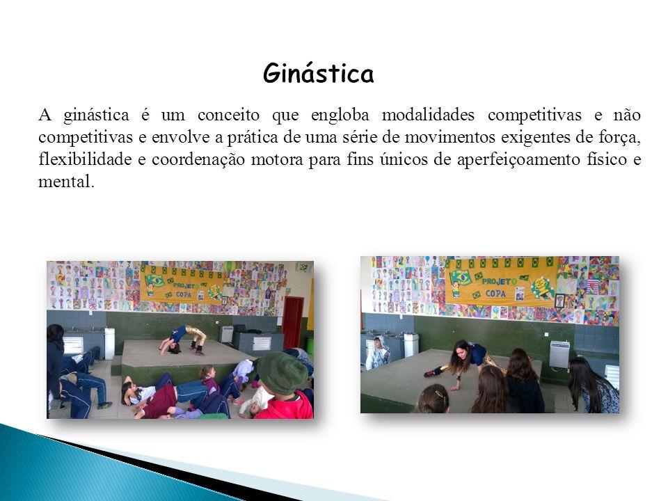 A ginástica é um conceito que engloba modalidades competitivas e não competitivas e envolve a prática de uma série de movimentos exigentes de força, f