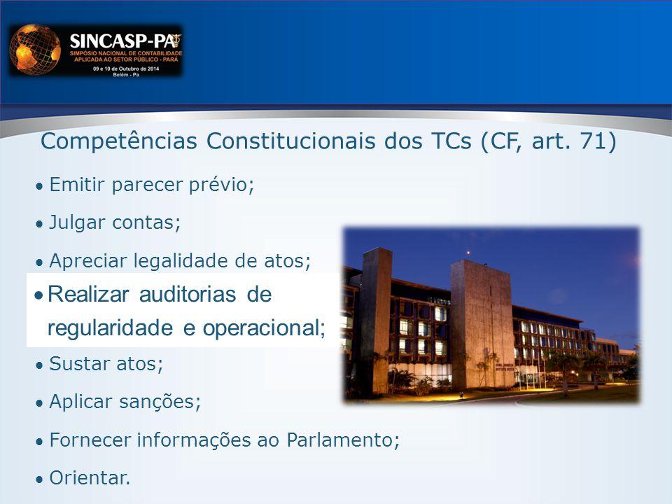 Competências Constitucionais dos TCs (CF, art.