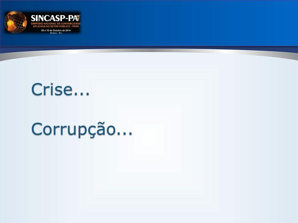 Crise... Corrupção...