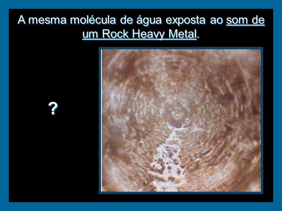 A mesma molécula de água exposta ao som de um Rock Heavy Metal. ? ?