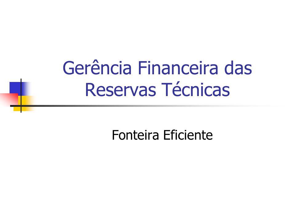 Gerência Financeira das Reservas Técnicas Fonteira Eficiente