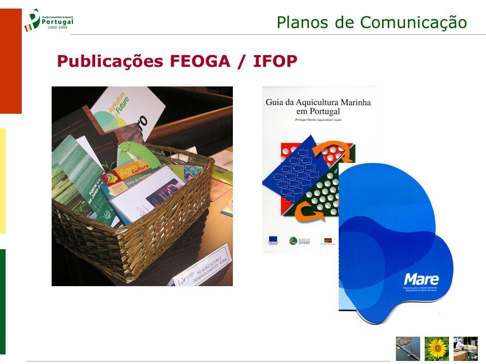Planos de Comunicação Publicações FEOGA / IFOP