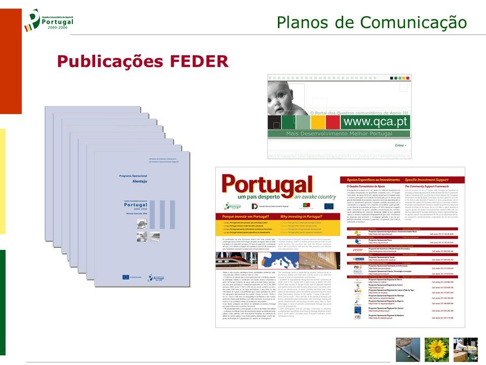 Planos de Comunicação Publicações FEDER