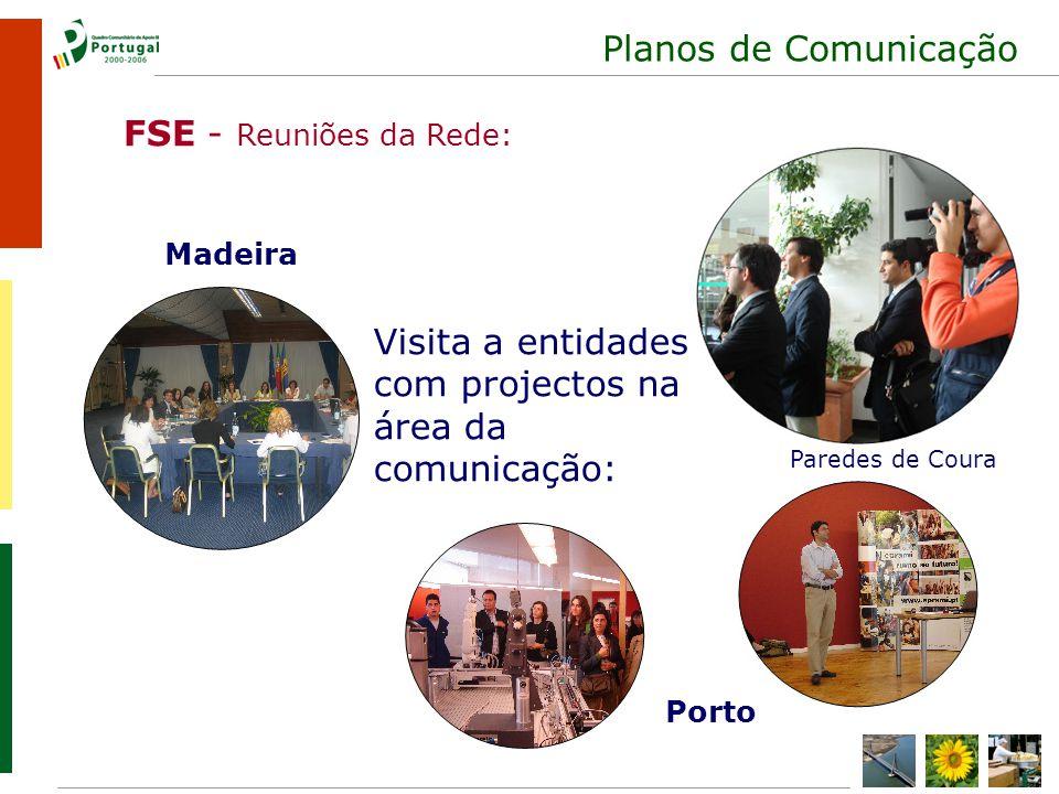 Planos de Comunicação FSE - Reuniões da Rede: Madeira Porto Visita a entidades com projectos na área da comunicação: Paredes de Coura