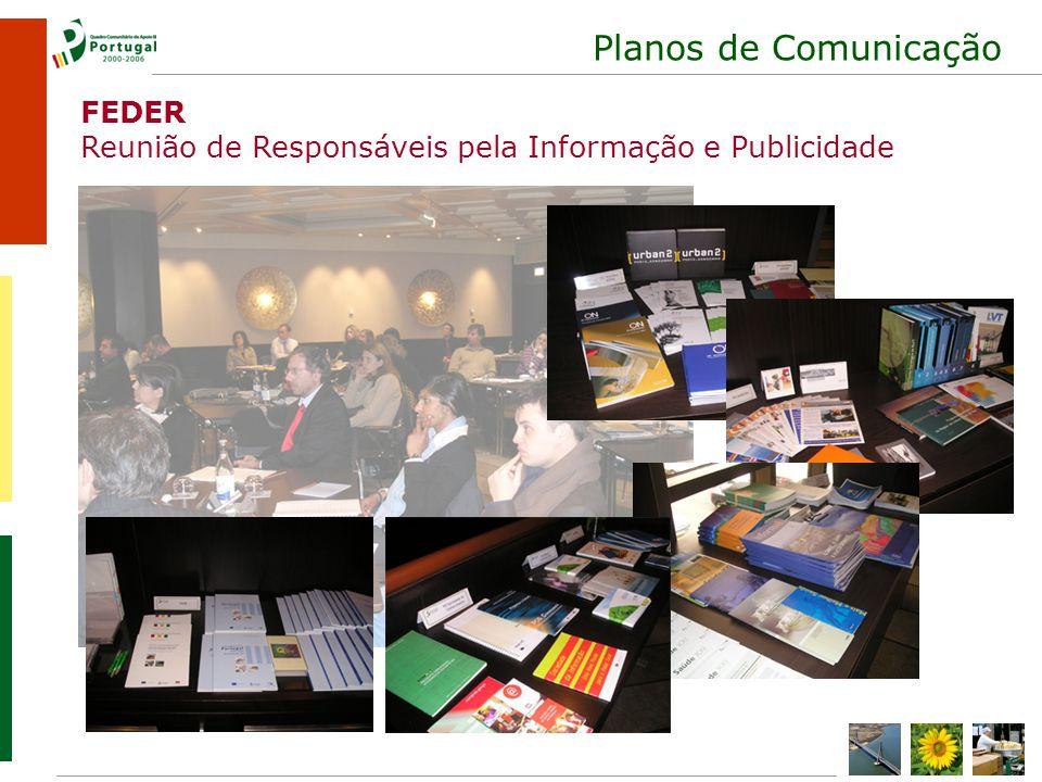 Planos de Comunicação FEDER Reunião de Responsáveis pela Informação e Publicidade