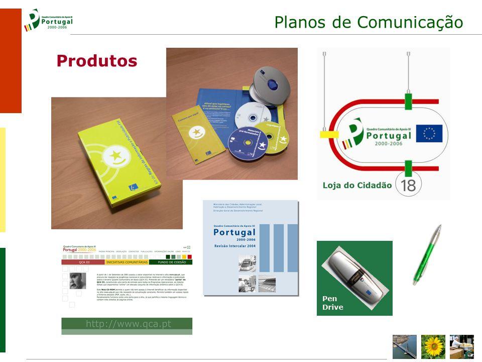 Planos de Comunicação Produtos
