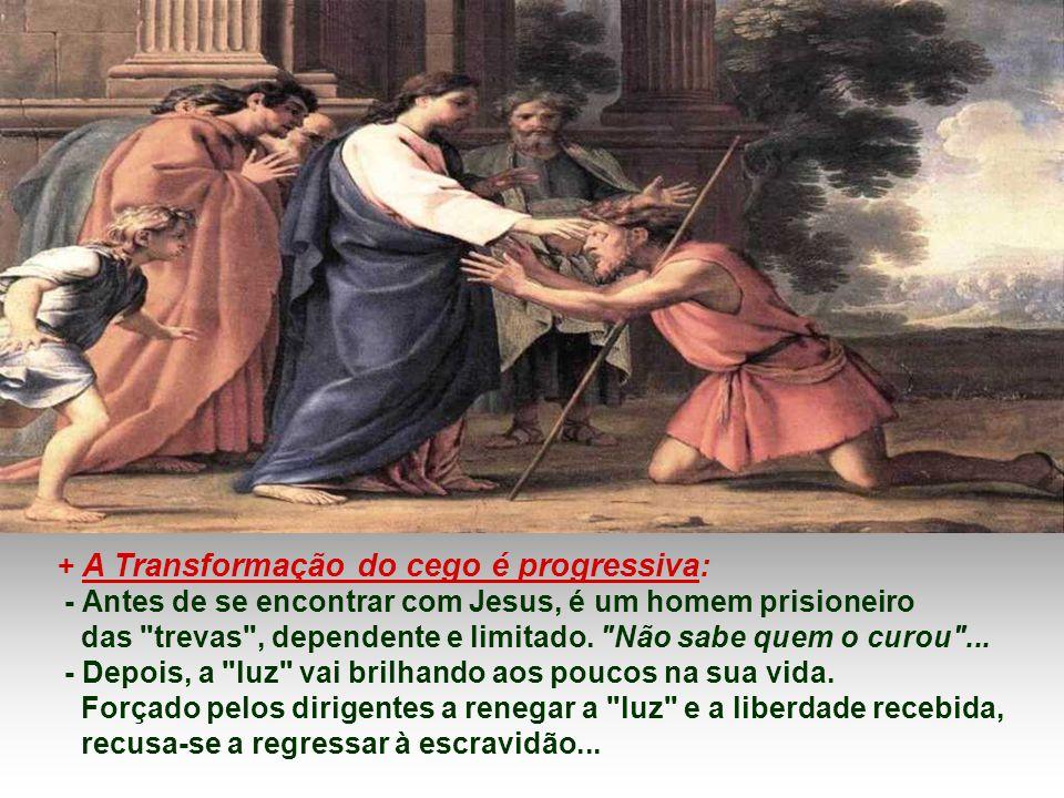 - O CEGO é questionado pelas AUTORIDADES sobre a origem de Jesus. E ele, como