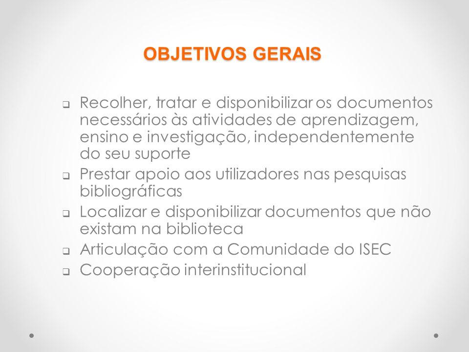 SERVIÇOS PRESTADOS  Consulta e leitura de presença  Empréstimo Domiciliário  Orientação aos utilizadores  Consulta de Bases de Dados (tanto do ISEC, como externas)  Pesquisa na Internet  Empréstimo Interbibliotecas  Serviço de Fotocópias (auto-serviço)