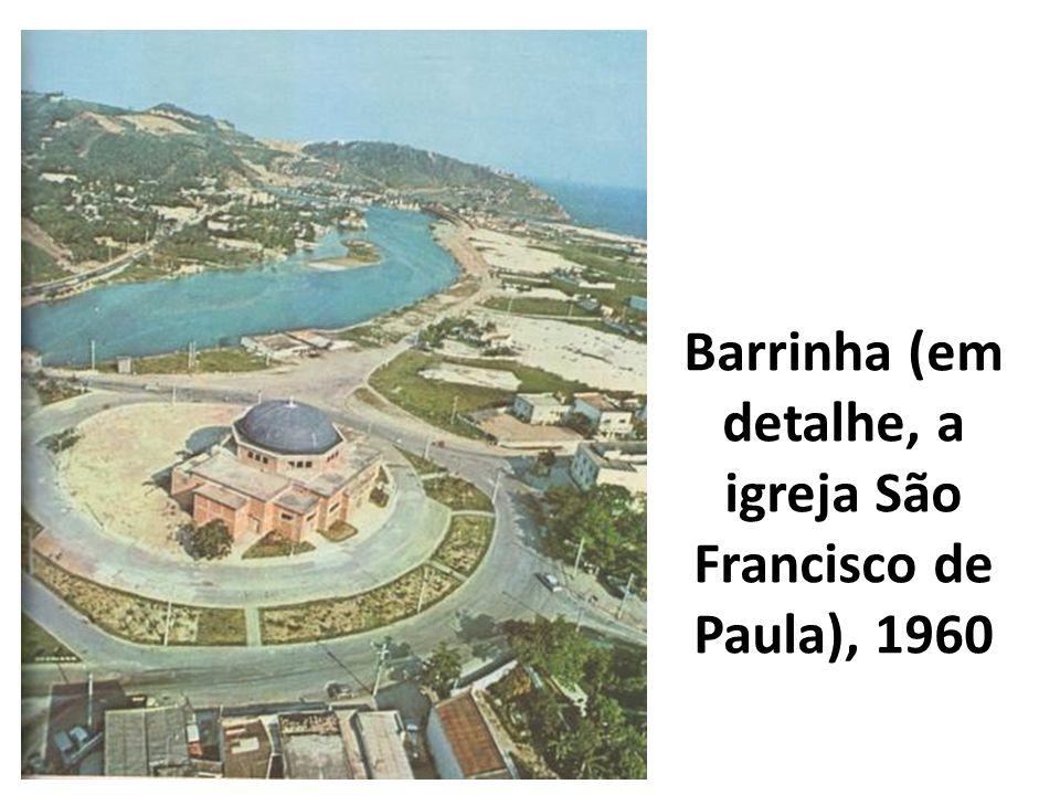 Barrinha (em detalhe, a igreja São Francisco de Paula), 1960