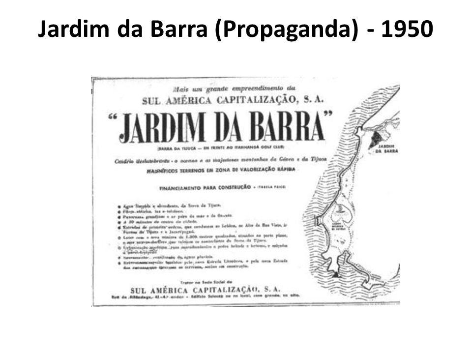 Jardim da Barra (Propaganda) - 1950