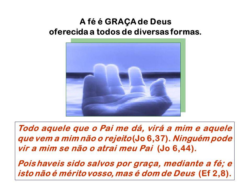 Todo aquele que o Pai me dá, virá a mim e aquele que vem a mim não o rejeito (Jo 6,37). Ninguém pode vir a mim se não o atrai meu Pai (Jo 6,44). Pois