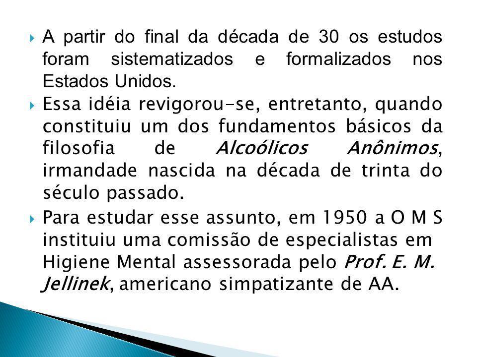  A partir do final da década de 30 os estudos foram sistematizados e formalizados nos Estados Unidos.