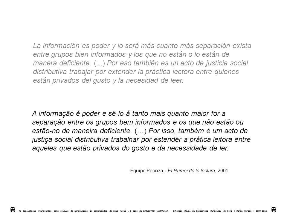 A PRIMEIRA | LA PRIMERA  As Biblotecas Itinerantes como veículo de aproximação às comunidades de meio rural.