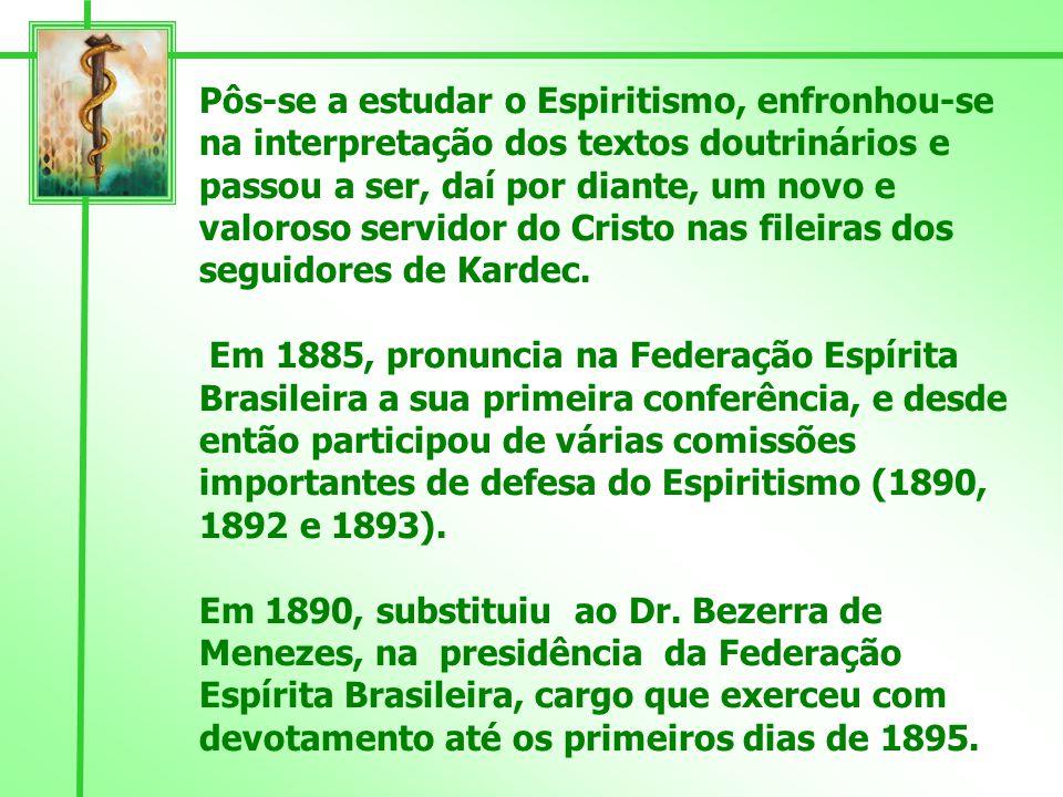 Francisco de Menezes Dias da Cruz, nasceu a 27 de Fevereiro de 1853 e desencarnou em 30 de Setembro de 1937,na cidade do Rio de Janeiro.