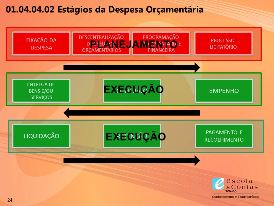 24 TEMPO FIXAÇÃO DA DESPESA FIXAÇÃO DA DESPESA DESCENTRALIZAÇÃO DE CRÉDITOS ORÇAMENTÁRIOS DESCENTRALIZAÇÃO DE CRÉDITOS ORÇAMENTÁRIOS TEMPO PROCESSO LI