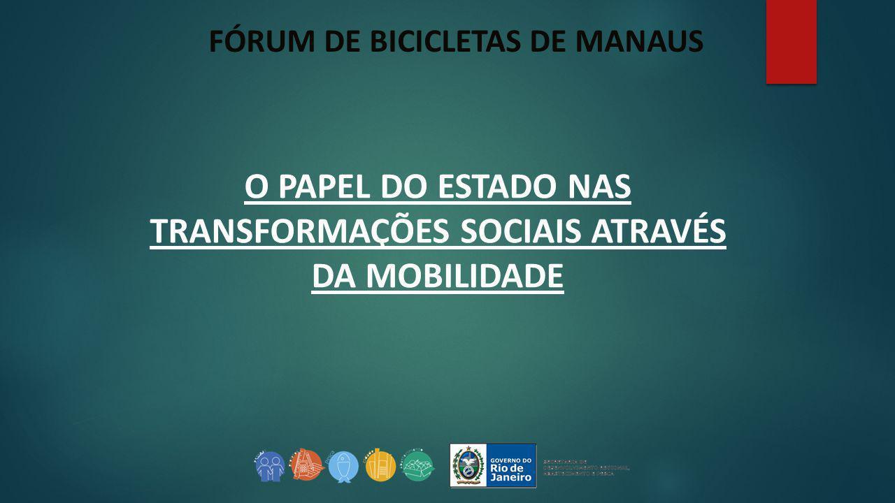 FÓRUM DE BICICLETAS DE MANAUS O PAPEL DO ESTADO NAS TRANSFORMAÇÕES SOCIAIS ATRAVÉS DA MOBILIDADE