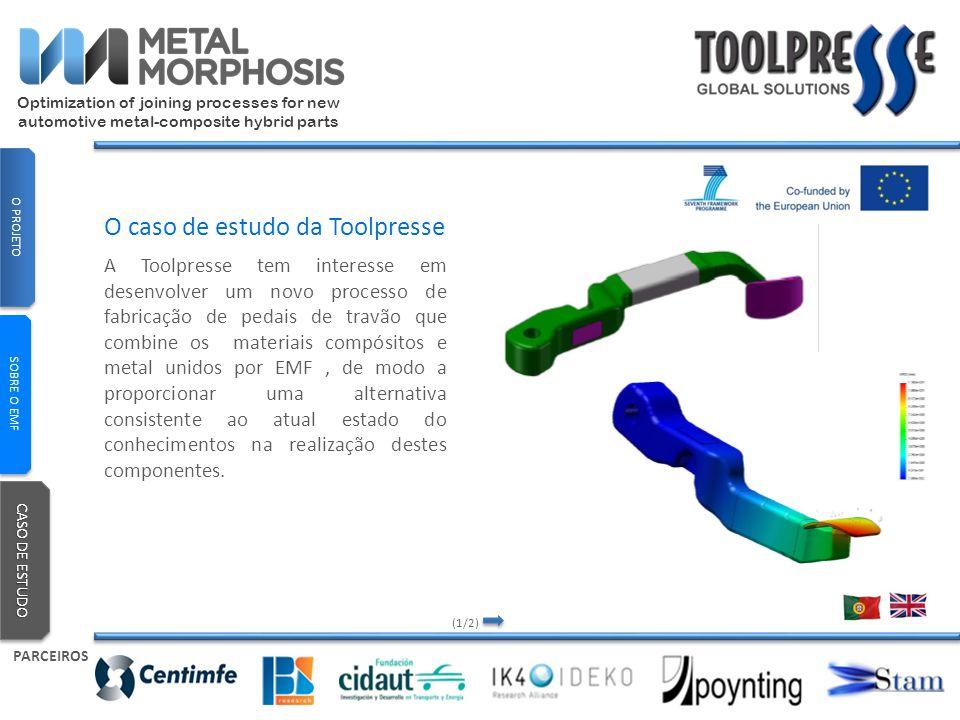 A Toolpresse tem interesse em desenvolver um novo processo de fabricação de pedais de travão que combine os materiais compósitos e metal unidos por EM