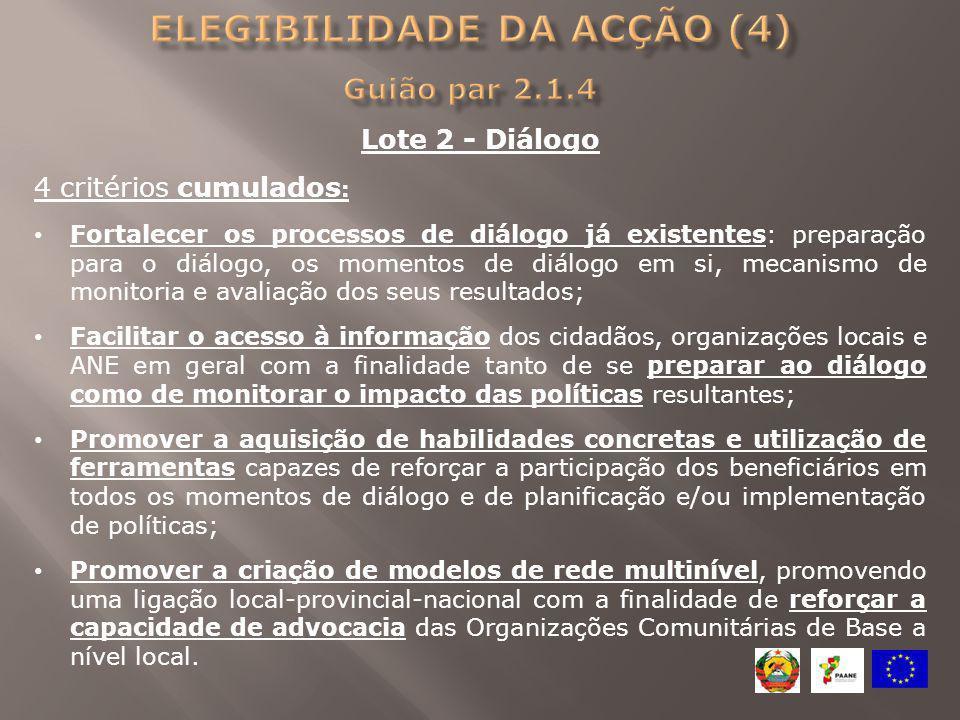 Lote 2 - Diálogo 4 critérios cumulados : Fortalecer os processos de diálogo já existentes: preparação para o diálogo, os momentos de diálogo em si, me