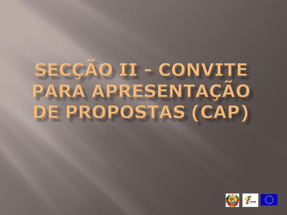 Número de propostas que se podem apresentar: Cada proponente pode apresentar apenas uma proposta como requerente e uma como co-requerente desde que sejam em dois lotes principais diferentes