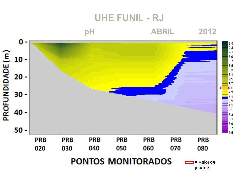 UHE FUNIL - RJ 2012ABRIL pH = valor de jusante