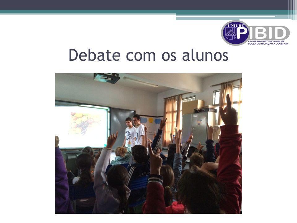 Debate com os alunos