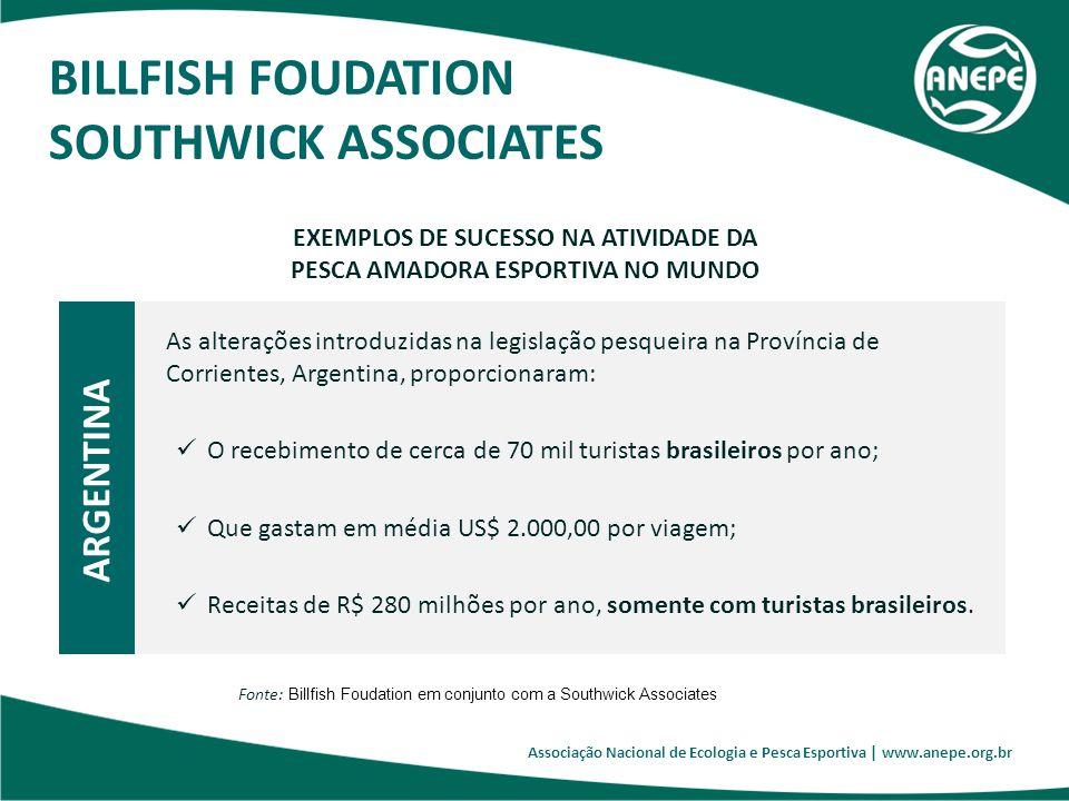 Associação Nacional de Ecologia e Pesca Esportiva | www.anepe.org.br EXEMPLOS DE SUCESSO NA ATIVIDADE DA PESCA AMADORA ESPORTIVA NO MUNDO ARGENTINA As