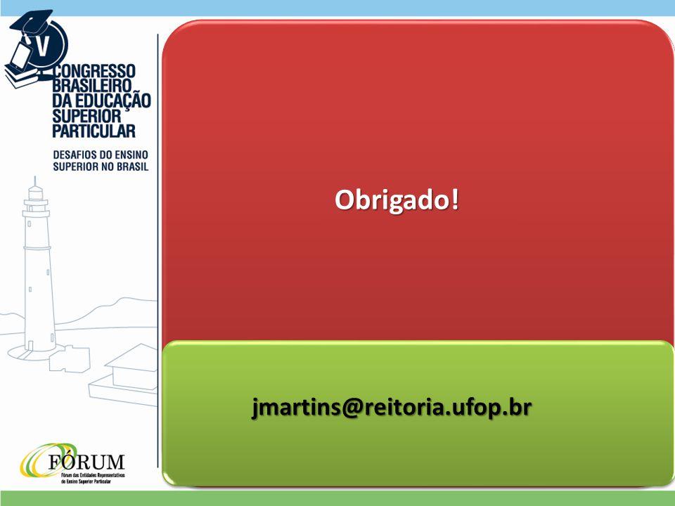Obrigado! Obrigado! jmartins@reitoria.ufop.br jmartins@reitoria.ufop.br