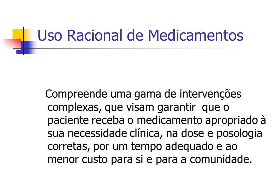 O Uso Racional de Medicamentos é preocupação mundial.