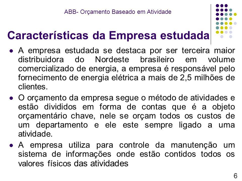 Características da Empresa estudada A empresa estudada se destaca por ser terceira maior distribuidora do Nordeste brasileiro em volume comercializado