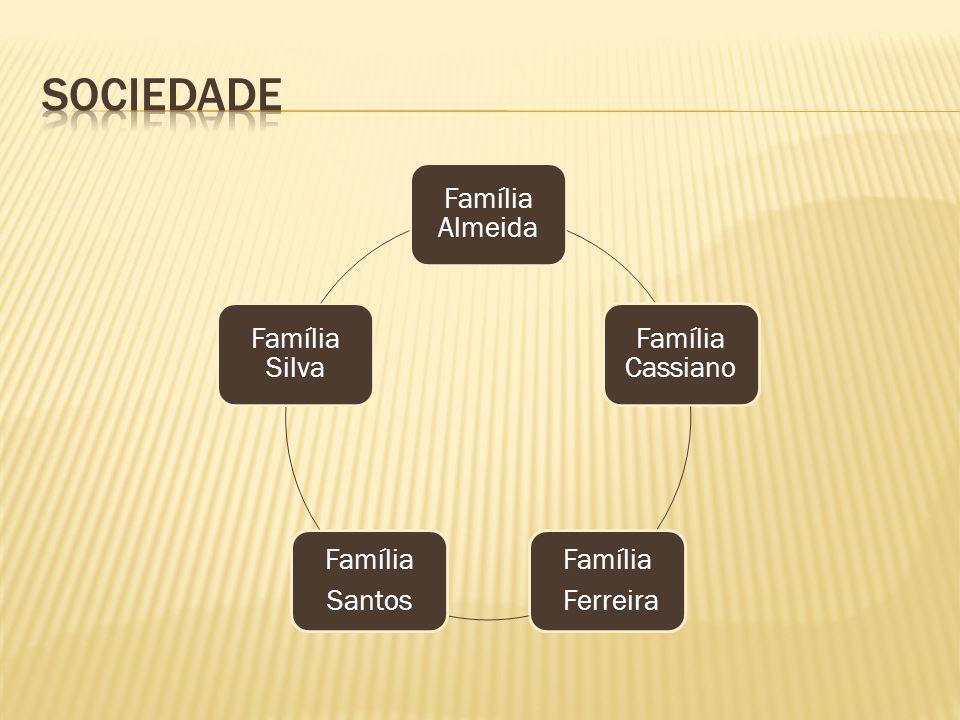 Família Almeida Família Cassiano Família Ferreira Família Santos Família Silva