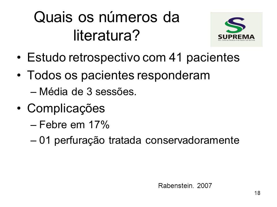 18 Quais os números da literatura.