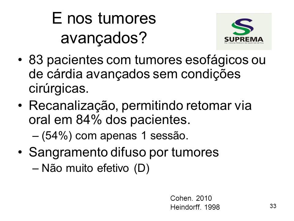 33 E nos tumores avançados.