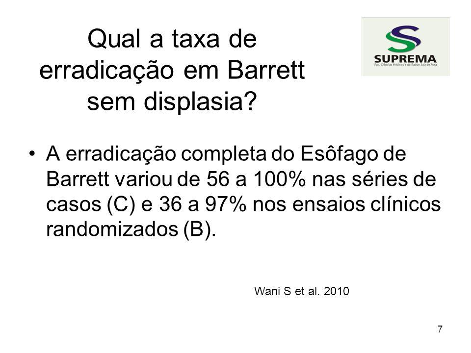 8 Qual a taxa de recorrência Recorrência de 43% (B). Bright et al. 2007