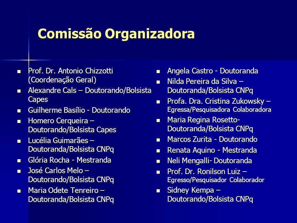 Comissão Organizadora Prof. Dr. Antonio Chizzotti (Coordenação Geral) Prof. Dr. Antonio Chizzotti (Coordenação Geral) Alexandre Cals – Doutorando/Bols
