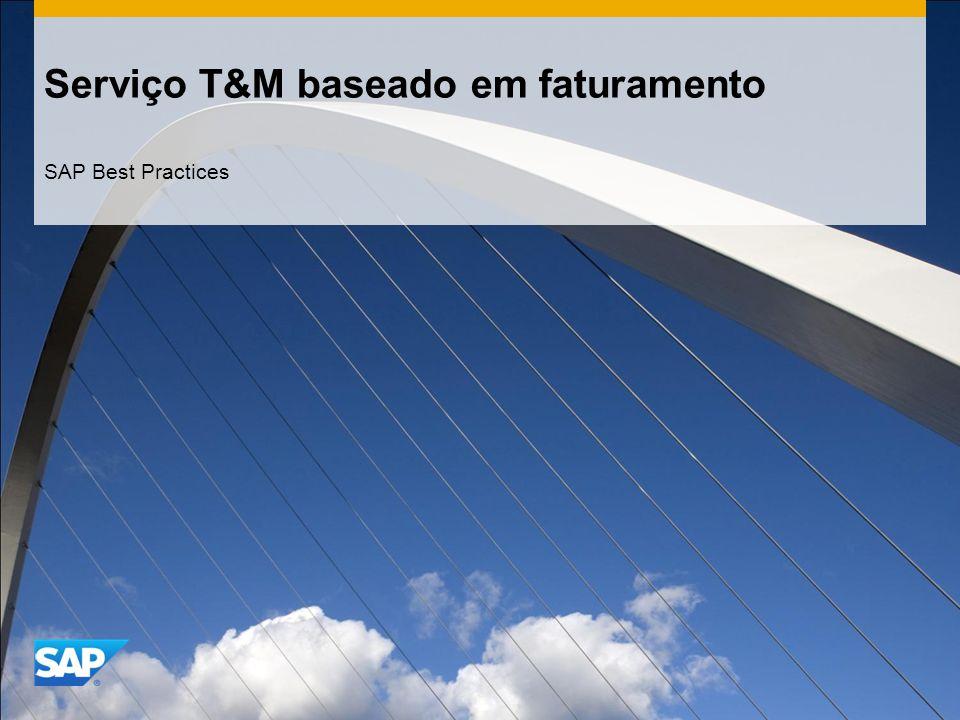 Serviço T&M baseado em faturamento SAP Best Practices