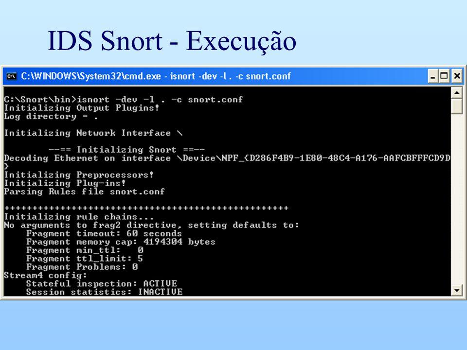 IDS Snort - Execução