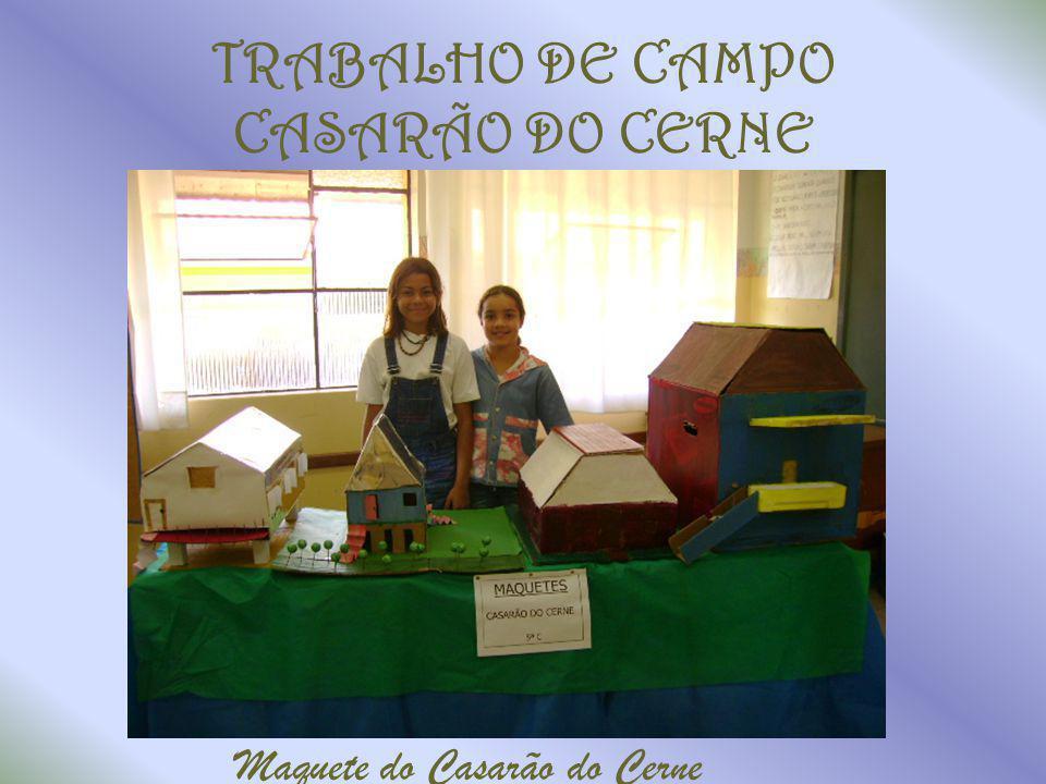 TRABALHO DE CAMPO CASARÃO DO CERNE Maquete do Casarão do Cerne