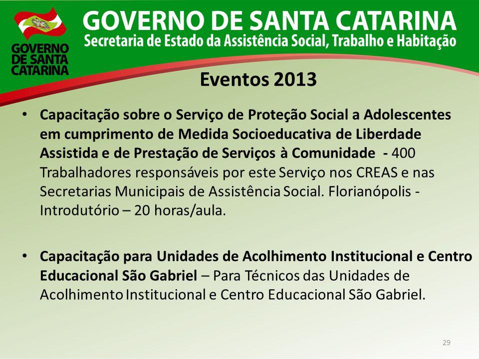 29 Capacitação sobre o Serviço de Proteção Social a Adolescentes em cumprimento de Medida Socioeducativa de Liberdade Assistida e de Prestação de Serv