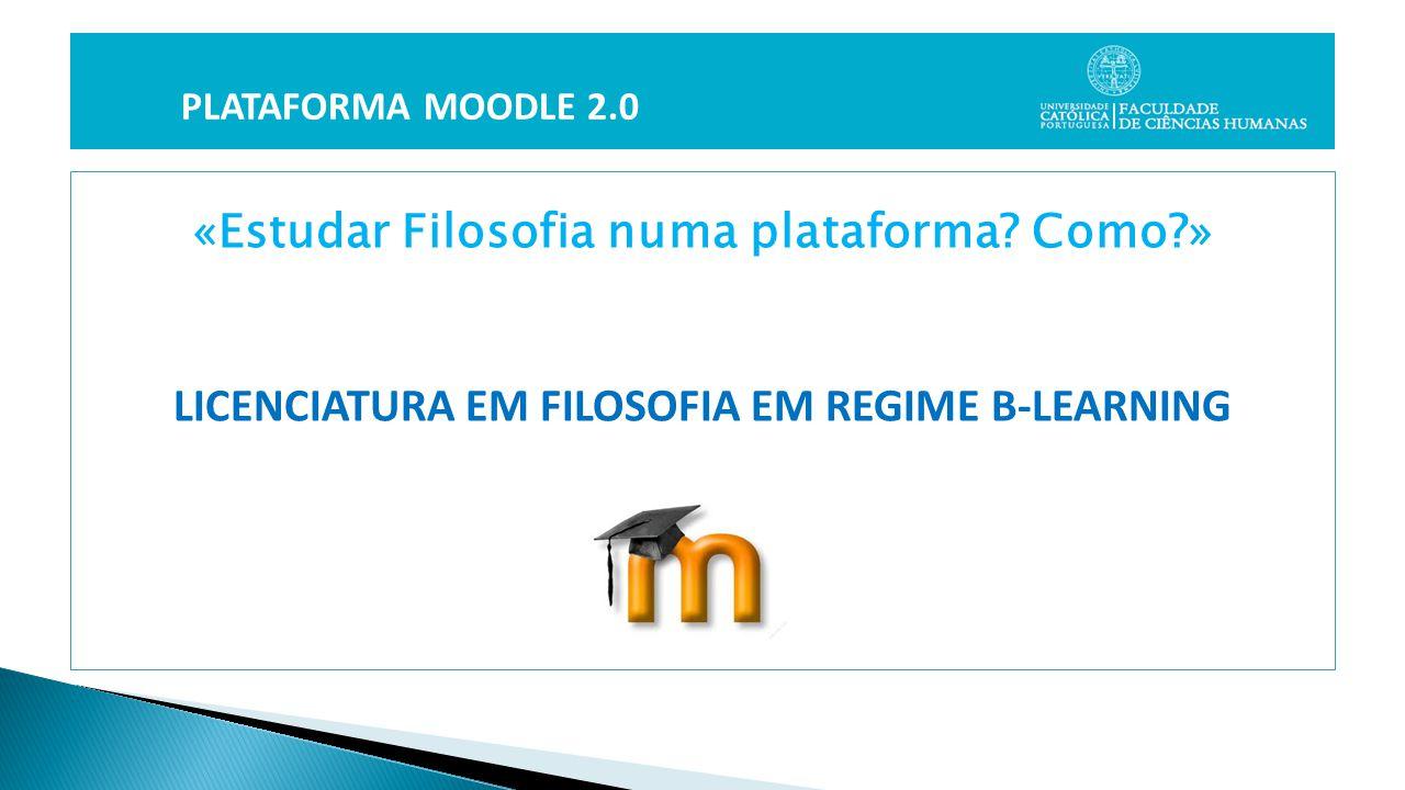 «Estudar Filosofia numa plataforma.