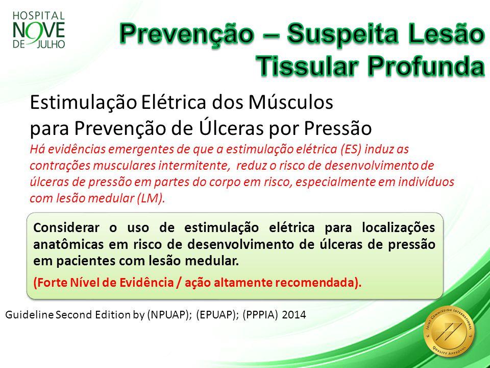 Estimulação Elétrica dos Músculos para Prevenção de Úlceras por Pressão Há evidências emergentes de que a estimulação elétrica (ES) induz as contraçõe