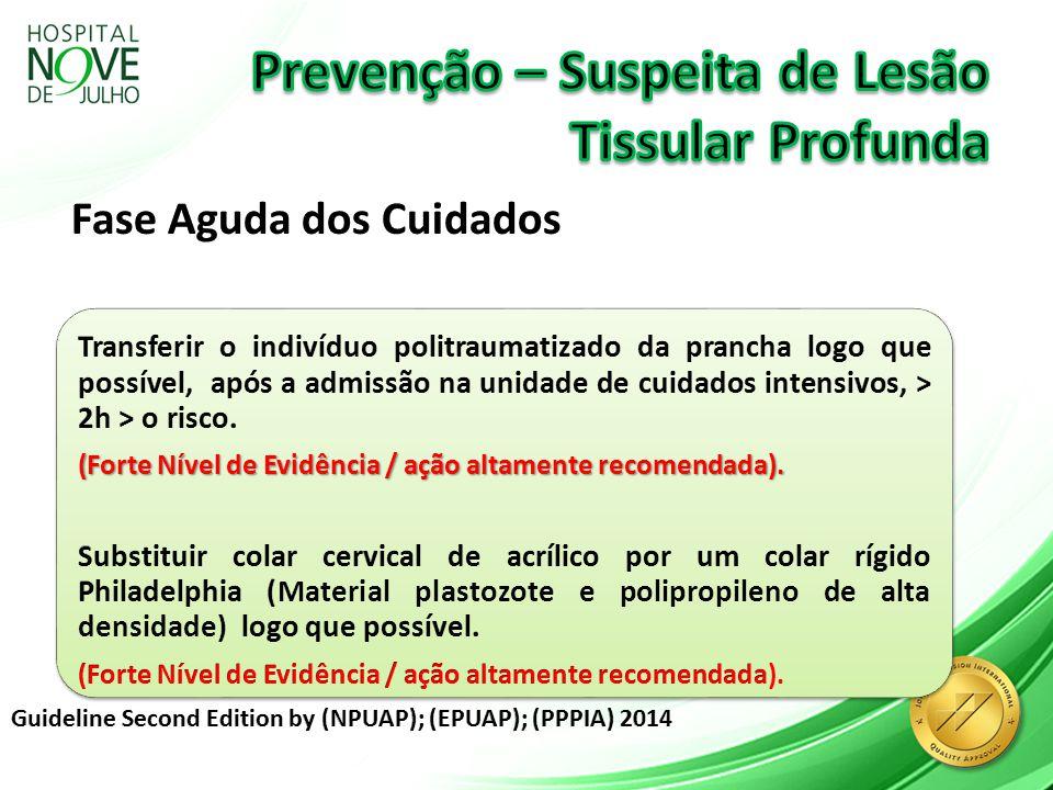 Suspeita Lesão Tissular Profunda Distribuir pressão frequentemente mesmo que o mínimo possível.