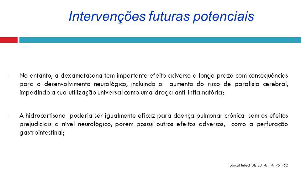 - No entanto, a dexametasona tem importante efeito adverso a longo prazo com consequências para o desenvolvimento neurológico, incluindo o aumento do
