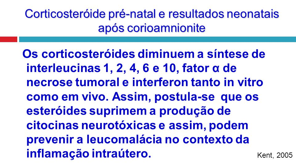 Os corticosteróides diminuem a síntese de interleucinas 1, 2, 4, 6 e 10, fator α de necrose tumoral e interferon tanto in vitro como em vivo. Assim, p