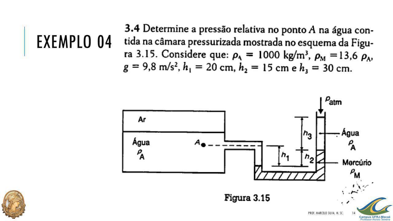 EXEMPLO 04 PROF. MARCELO SILVA, M. SC.14
