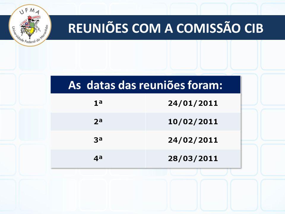 REUNIÕES COM A COMISSÃO CIB
