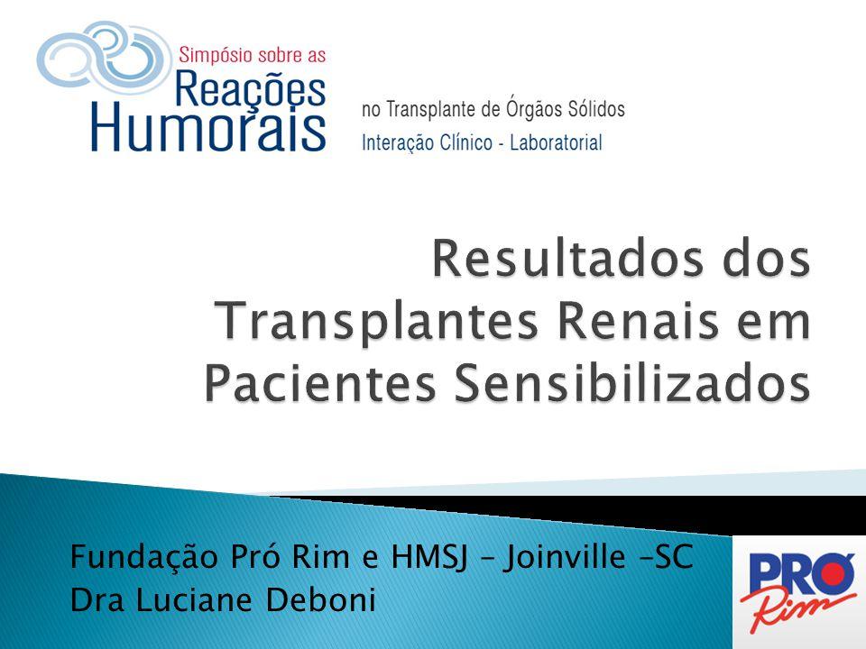 Fundação Pró Rim e HMSJ – Joinville –SC Dra Luciane Deboni