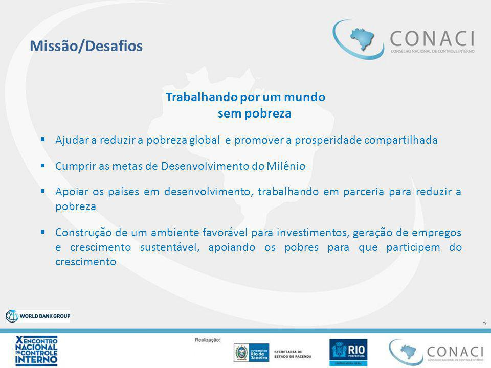 Missão/Desafios Trabalhando por um mundo sem pobreza  Ajudar a reduzir a pobreza global e promover a prosperidade compartilhada  Cumprir as metas de