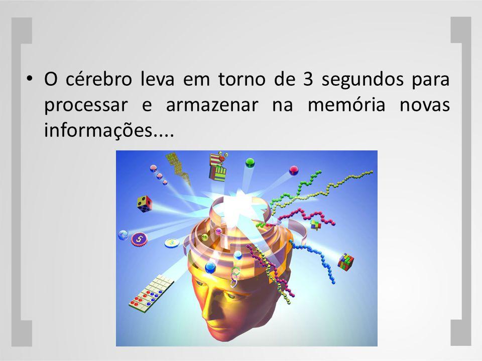 O cérebro leva em torno de 3 segundos para processar e armazenar na memória novas informações....