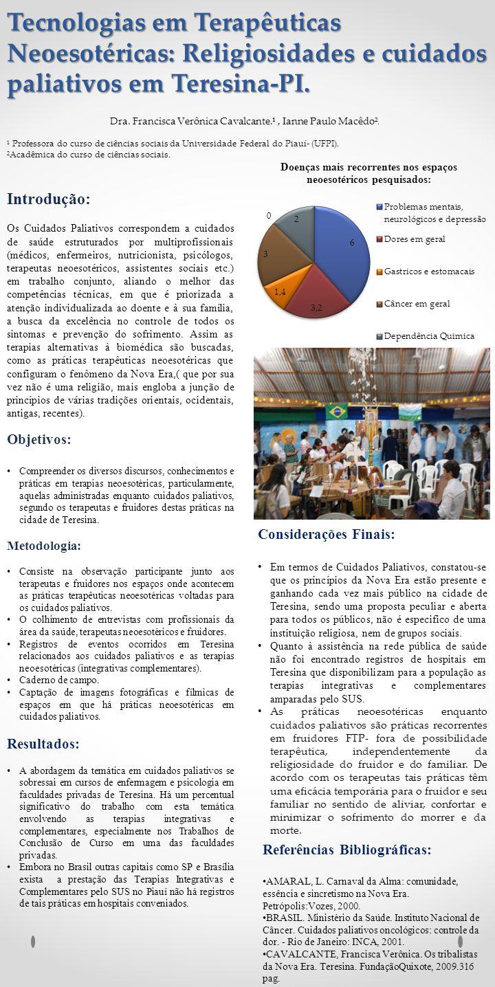 Tecnologias em Terapêuticas Neoesotéricas: Religiosidades e cuidados paliativos em Teresina-PI.